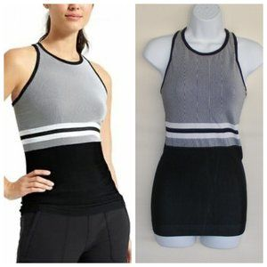 ATHLETA Tank Top, S, Racerback, Stripes/Solid